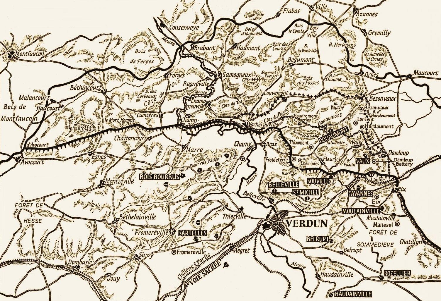 Map Of Verdun 1916
