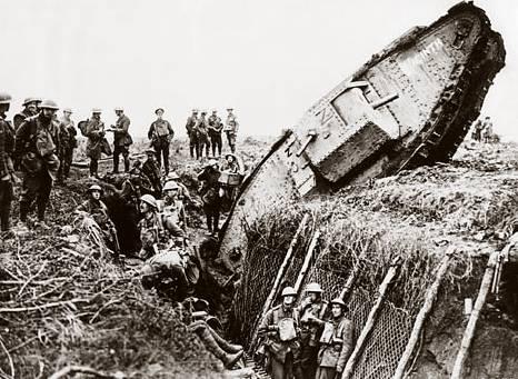 hadden ze tanks in de eerste wereldoorlog